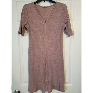 Bodycon zippered t-shirt dress